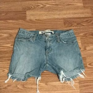 Ultra low rise cutoffs